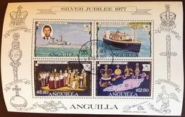 Anguilla 1977 Silver Jubilee Minisheet VFU - Anguilla (1968-...)