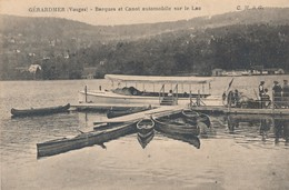 CPA - France - (88) Vosges - Gérardmer - Barques Et Canot Automobile Sur Le Lac - Gerardmer