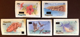 Anguilla 1984 Surcharge Set Birds Fish Flowers MNH - Anguilla (1968-...)