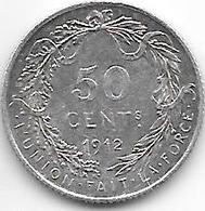 *belguim  Albert I 50 Centimes    1912 French  Xf+ !!! - 1909-1934: Albert I