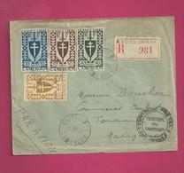 Lettre Recommandée De 1945 Pour Madagascar - YT N° 250, 253, 260 Et 261 - Série De Londres - Cameroun (1915-1959)