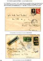 WWII - 3 Pages Coll. Intern.-  - Entrée En Guerre De L'Italie : Les 2 Batailles De Syrte - Storia Postale