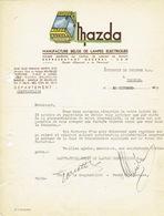 Lettre Illustrée (Publicité Lampes MAZDA SUPER) 1939 BRUXELLES - Manufacture Belge De Lampes Electriques - Belgique