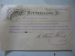 """Lettera Commerciale """"PH. BARTHELS FELDHOFF - BARMEN 15 October 1901"""" - Allemagne"""