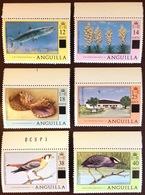 Anguilla 1979 Surcharge Set Fish Flowers Shells Birds MNH - Anguilla (1968-...)