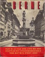 BERN (SUISSE) - PLAN DE LA VILLE Avec UN LIVRET Contenant La LISTE DES RUES (1966) - Cartes