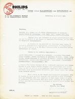 Lettre 1937 BRUXELLES - PHILIPS - Lampes & Appareils D'éclairage, Tubes & Récepteurs Radiophoniques - Belgique