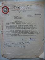 """Lettera Commerciale """"BARBIERI & C. STAGIONATURA ED ESPORTAZIONE FORMAGGIO GRANA TIPICO PARMIGGIANO REGGIANO"""" - Italia"""