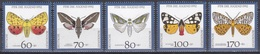 Deutschland Germany BRD 1992 Tiere Fauna Animals Schmetterlinge Butterflies Papillon Mariposa Farfalle, Mi. 1602-6 ** - BRD