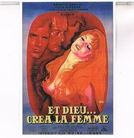 Cpm Affiches Cinema  ET DIEU  CREA LA FEMME  BRIGITTE BARDOT  TBE PU230 - Affiches Sur Carte