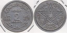 Marocco 2 Francs 1951 KM#47 - Used - Marruecos