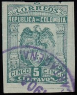 COLUMBIA - Scott #268a Coat Of Arms / Used Imperf. Stamp - Colombia