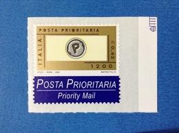 2000 ITALIA POSTA PRIORITARIA FRANCOBOLLO NUOVO STAMP NEW MNH** - PRIORITARIO 1200 LIRE 0,62 EURO - 1946-.. République