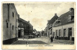 A2 NORD 59 GONDECOURT Rue Nationale Petite Coupure Repéré Au Dos - Francia