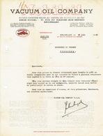 Lettre 1939 BRUXELLES - VACUUM OIL COMPANY - MOBILOIL - Belgique