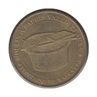 0291 - MEDAILLE TOURISTIQUE MONNAIE DE PARIS 84 - Vallis Clausa - 2010 - Monnaie De Paris