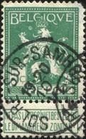 """COB  110 (o)  Oblitération """"Solre-sur-Sambre""""  T2R - 1912 Pellens"""