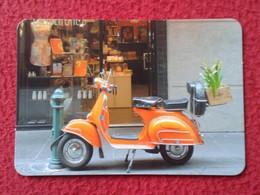 CALENDARIO DE BOLSILLO CALENDAR 2018 MOTO VESPA MOTOCICLETA MOTORCYCLE PRECIOSA ITALIA ITALY VER FOTO/S Y DESCRIPCIÓN - Tamaño Pequeño : 2001-...