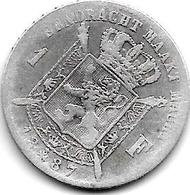 *belguim 1 Franc  Leopold II  1887  Flemisch  Type B  L   WIENER  L Zonder Punt(no Point )  Fr+ - 07. 1 Franc