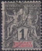 Dahomey 1901 1c MiN°6 (o) - Benin – Dahomey (1960-...)