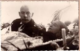 Antique Post Mortem Woman In Casket Vintage Funeral Photo Postcard 1934 - Photographie