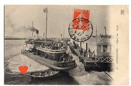 """01322-LE-50-CHERBOURG-Départ Du """"Lloyd""""-------------animée-bateau - Cherbourg"""