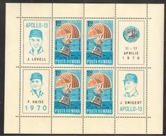 Rumänien; 1970; Michel Block 77 **; Apollo 13; II Wahl!! - Nuevos