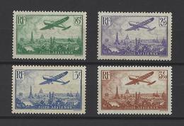 FRANCE  YT  PA  N° 8-10-12-13  Neuf **/*  1936 - Airmail