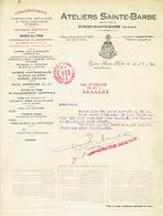 Brief 1924 EYSDEN - ATELIERS SAINTE-BARBE - Constuction Matériel De Chemins De Fer, Tramways, Matériel Agricole... - Belgique