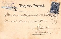 Tarjeta Postal Valparaiso Avenida Errazuriz Chili Chile Belgique Gent Gand - Chili