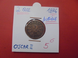 NORVEGE 2 ÖRE 1876 - Norvège