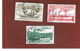 NORVEGIA  (NORWAY)    SG 800.802   -   1977  COASTAL ROUTES: SHIPS    -   USED ° - Norvegia