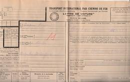 Lettre De Voiture Chemin De Fer / 18.8.42 / Transport De Foin / De St Loup 70 à Dole 39 / Cachet Feld Kommandantur - 1939-45