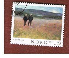 NORVEGIA  (NORWAY)    SG 806  -   1977  PAINTINGS: SATURDAY EVENING    -   USED ° - Norvegia