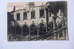 CPA ANVERS BELGIQUE INCENDIE DE LA BOURSE ECRITE SIGNEE PAR JEAN De BOSSCHERE ECRIVAIN PEINTRE LOUIS MANDIN POETE 1914 - Antwerpen