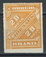 Brasil Mi 68, Sc P2  (*) No Gum - Unused Stamps