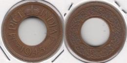 India Britannica 1 Pice 1945 (Large Legend) KM#533 - Used - Inde