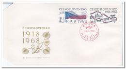 Tsjechoslowakije 1968, FDC, 50 Years Tsjechoslowakia - FDC