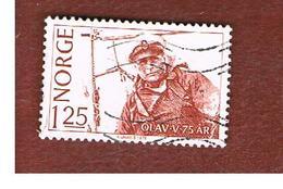 NORVEGIA  (NORWAY)    SG 817  -   1978  75^ BIRTHDAY OF KING OSLAV V   -   USED ° - Norvegia