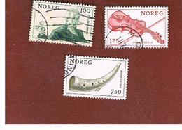 NORVEGIA  (NORWAY)    SG 827.830  -   1978  MUSICAL INSTRUMENTS   -   USED ° - Norvegia
