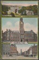 Multiview, Barrow, Lancashire, 1913 - William Ritchie Postcard - England