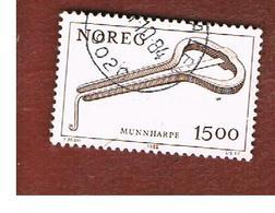 NORVEGIA  (NORWAY)    SG 831  -   1979  MUSICAL INSTRUMENTS: JEW' S HARP   -   USED ° - Norvegia