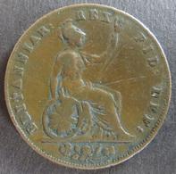 Großbritannien 1826 - Half Penny Token  Georgius IV. Dei Gratia Kupfer S - Entriegelungschips Und Medaillen