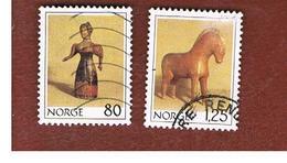 NORVEGIA  (NORWAY)    SG 835.837  -   1978  CHRISTMAS: ANTIQUE TOYS   -   USED ° - Norvegia
