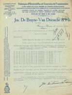 Brief 1941 HAMME - Jos. DE BRUYNE-VAN DRIESSCHE & Fils - Fabrique D'étreindelles Et De Courroies De Transmission - Belgique