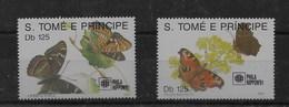 Serie De Santo Tomé Nº Yvert 1062/63 ** SETAS (MUSHROOMS) - Sao Tomé Y Príncipe