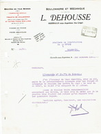 Lettre De 1942 HERMALLE-SOUS-ARGENTEAU - L. DEHOUSSE - Boulonnerie Et Mécanique - Belgique