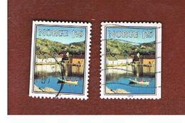 NORVEGIA  (NORWAY)    SG 844  -   1979 SKJERNOY SUND (2 DIFFERENT PERFORATIONS)   -   USED ° - Norvegia