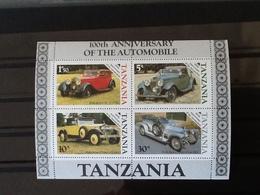 Tanzania Block 100th Anniversary Of The Automobiel MNH. - Tanzanie (1964-...)
