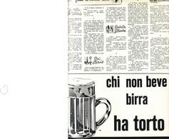 (pagine-pages)PUBBLICITA' BIRRA  Epoca1959/456. - Books, Magazines, Comics